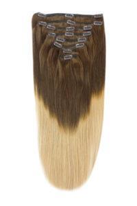 Extension a clip con capelli veri