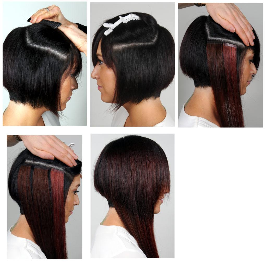 Extension capelli cortissimi prima e dopo